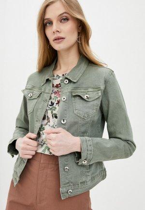 Куртка джинсовая Softy. Цвет: хаки