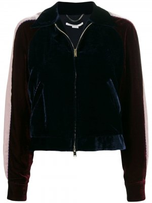 Бархатная куртка-бомбер Stella McCartney. Цвет: синий