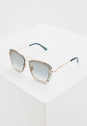 Очки солнцезащитные Jimmy Choo AMBRA/S DDB. Цвет: золотой