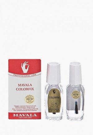Топовое покрытие Mavala Фиксатор лака Colorfix, 2х10 ml. Цвет: прозрачный