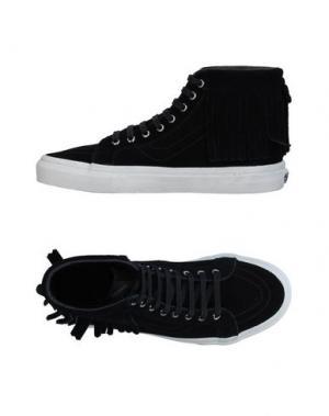 Высокие кеды и кроссовки VANS. Цвет: черный