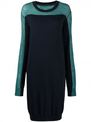Платье со вставками Maison Margiela. Цвет: синий