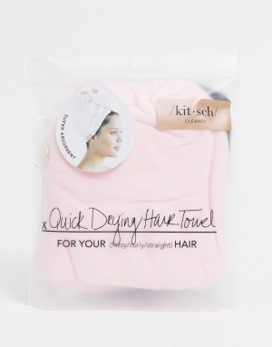 Светло-розовое полотенце для волос -Бесцветный Kitsch