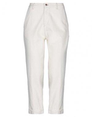Повседневные брюки CARE LABEL. Цвет: слоновая кость