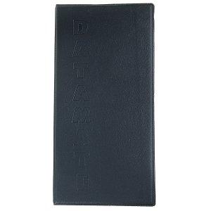 Визитница на 80 карт, 4 карты 1 листе, обложка пвх, чёрная Calligrata