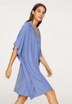 Платье Oysho_Sport. Цвет: синий