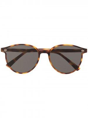 Солнцезащитные очки в оправе черепаховой расцветки Gentle Monster. Цвет: коричневый