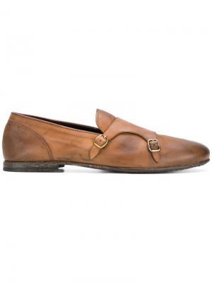 Ботинки-монки LeQarant. Цвет: коричневый