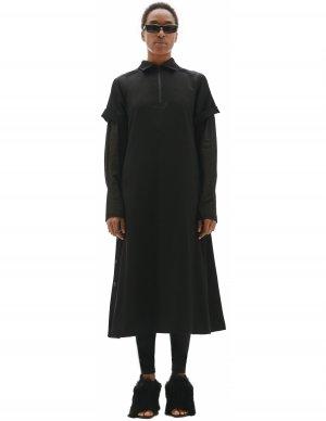 Черное платье с коротким рукавом Yohji Yamamoto