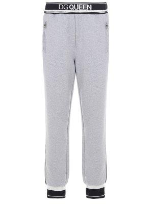 Хлопковые брюки-джоггеры DOLCE & GABBANA