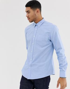 Приталенная оксфордская рубашка с длинными рукавами Ben Sherman - Синий