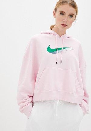 Худи Nike W NSW ICN CLSH FLC HOODIE FT. Цвет: розовый