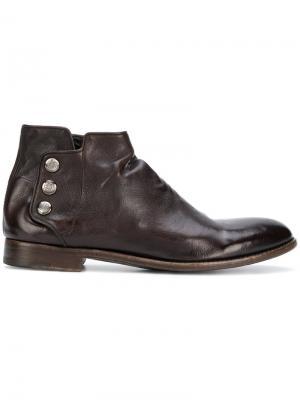 Ботинки с кнопками Alberto Fasciani. Цвет: коричневый