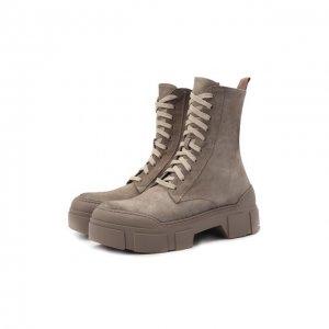 Замшевые ботинки Vic Matie. Цвет: бежевый