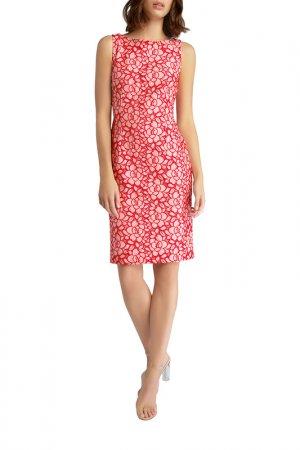 Платье Apart. Цвет: кремовый, красный