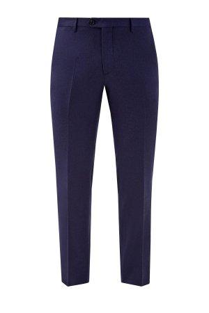 Классические брюки из шерстяной фланели ETRO. Цвет: синий
