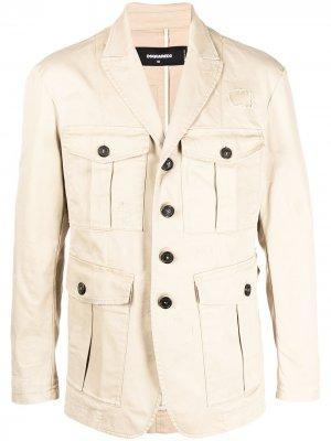 Однобортный пиджак Dsquared2. Цвет: нейтральные цвета