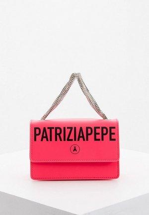 Сумка поясная Patrizia Pepe. Цвет: розовый
