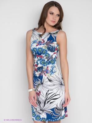 Платье DRS Deerose. Цвет: темно-синий, белый