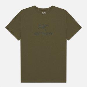 Мужская футболка ArcWord Arcteryx. Цвет: оливковый