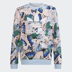 Свитшот HER Studio London Animal Flower Print Originals adidas. Цвет: разноцветный