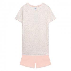 Хлопковая пижама Sanetta. Цвет: розовый