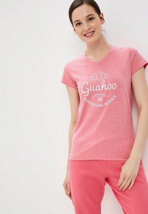 Футболка Guahoo. Цвет: розовый