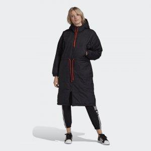 Парка Trefoil Originals adidas. Цвет: черный