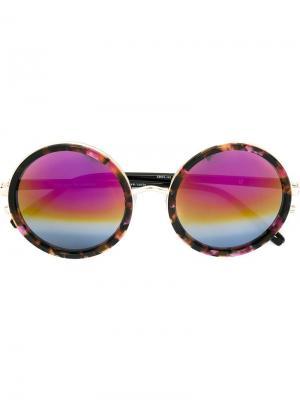 Солнцезащитные очки в круглой оправе Matthew Williamson. Цвет: чёрный