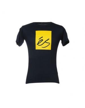 Футболка ÉS. Цвет: темно-синий