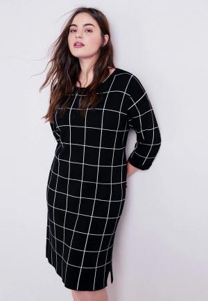 Платье Violeta by Mango - CONTRAST. Цвет: черный