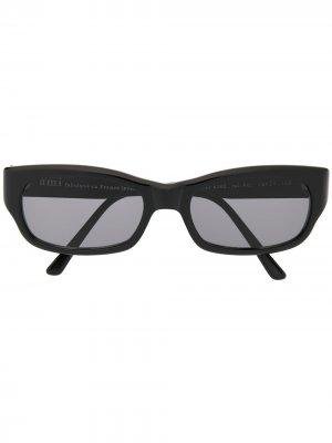 Солнцезащитные очки в прямоугольной оправе AMI Paris. Цвет: черный
