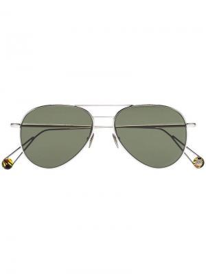 Солнцезащитные очки-авиаторы Pantheon с позолотой Ahlem. Цвет: черный