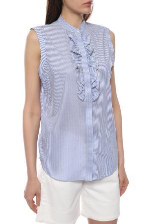 Блуза Brunello Cucinelli. Цвет: голубой, белый