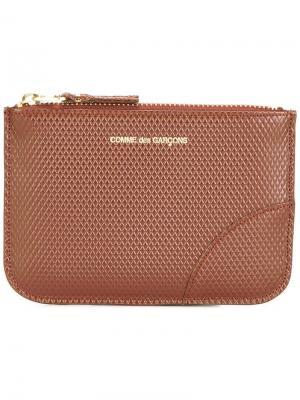 Фактурный кошелек Comme Des Garçons Wallet. Цвет: коричневый