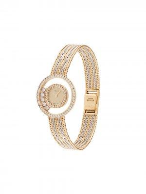 Наручные часы Happy Diamond Quartz 24 мм pre-owned Chopard. Цвет: золотистый