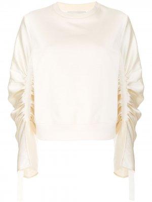 Пуловер с длинными присборенными рукавами 3.1 Phillip Lim. Цвет: нейтральные цвета