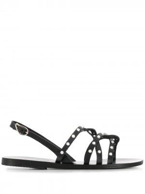 Сандалии с заклепками Ancient Greek Sandals. Цвет: черный