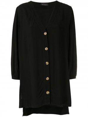 Пляжное платье с длинными рукавами Haight. Цвет: черный