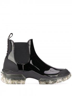 Ботинки челси на прозрачной подошве Moncler. Цвет: черный