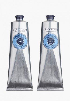 Набор для ухода за руками LOccitane L'Occitane 2*150 мл. Цвет: прозрачный