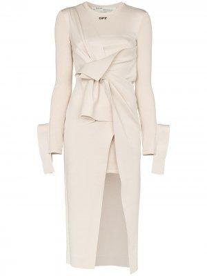 Платье миди с драпировкой Off-White