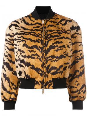 Куртка-бомбер с тигровым принтом Dsquared2. Цвет: жёлтый и оранжевый