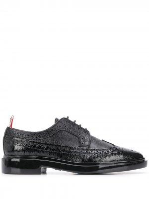 Туфли броги Thom Browne. Цвет: черный
