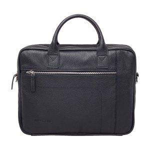 Кожаная деловая сумка для ноутбука Baxter Black