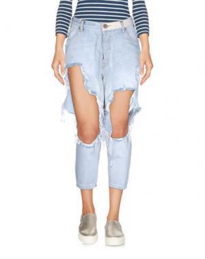 Джинсовые брюки-капри ONE x ONETEASPOON. Цвет: синий