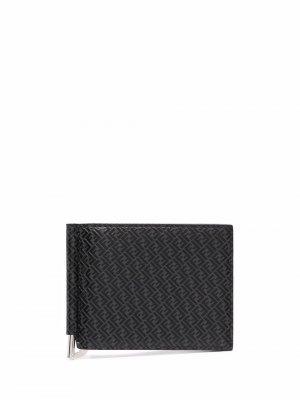 Картхолдер с логотипом FF Fendi. Цвет: черный