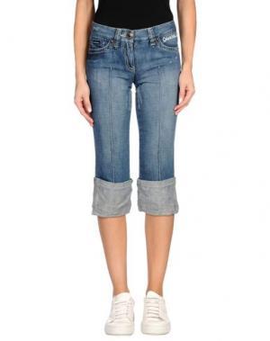 Джинсовые брюки-капри CALVIN KLEIN JEANS. Цвет: синий