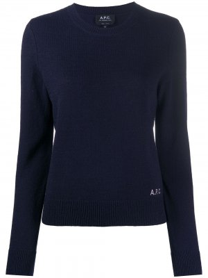 Джемпер с круглым вырезом A.P.C.. Цвет: синий