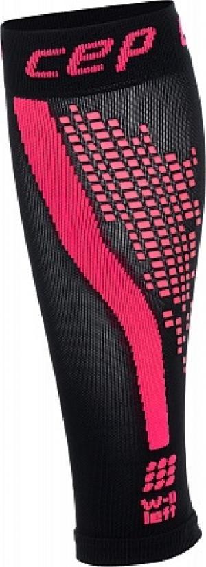 Гетры женские progressive+ calf sleeves 2.0 + night run, 1 пара, размер 39-44 CEP. Цвет: черный